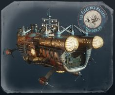 Steampunk Tendencies | Artwork by Denis Anfilov #Concept #Airship #Steampunk