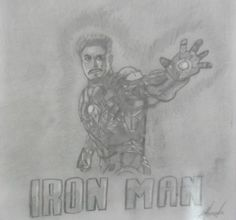 This time I couldn't but sketch my favorite Avenger...Tony Stark a.k.a. Iron Man!