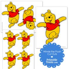 Winnie the Pooh Cut Outs from PrintableTreats.com