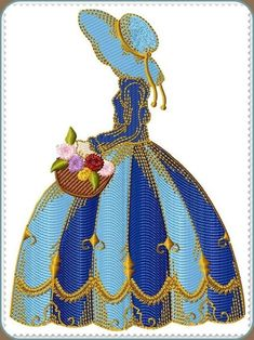 Machine Embroidery Designs :: Affordable :: Great Quality :: Crinoline Ladies Large Hoop