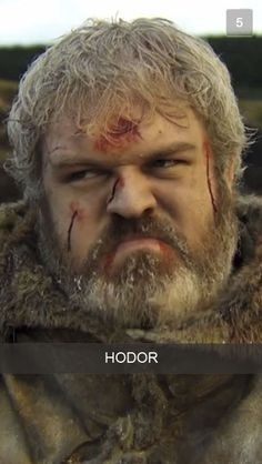Hodor - 25 Mystical Snapchats From Game Of Thrones