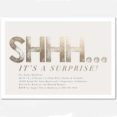 Shhh Its A Surprise Invitation Moms 50th Birthday Ideas Invitations