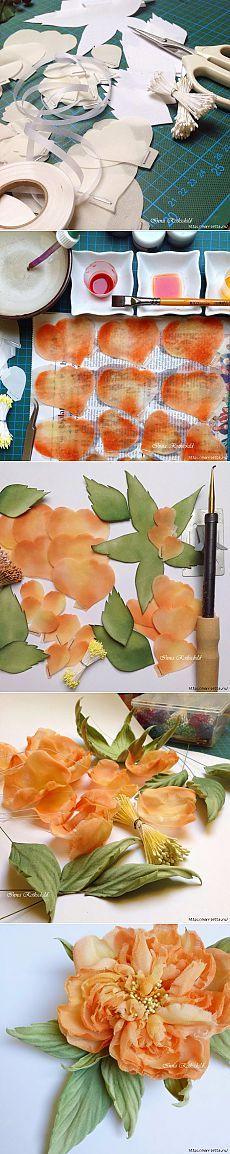 Цветы из шелка | Своими руками