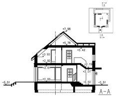 Przekrój domu Polo Simple House Design, Modern House Design, Design Case, Home Fashion, Bungalow, Floor Plans, Architecture, House Styles, Projects