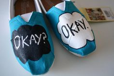 "These painted Toms. | 31 Incredible Etsy Products For ""The Fault In Our Stars"" Fans"