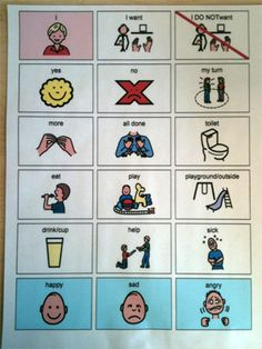 Communication Boards in the Classroom -  Pinned by @PediaStaff – Please Visit http://ht.ly/63sNt for all our pediatric therapy pins