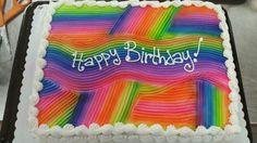 Rectangle Tie Dye Cake Icing