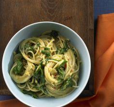 Spaghetti mit Kokosspinat - Vegetarische Rezepte: Hauptspeisen - 30 - [ESSEN & TRINKEN]