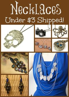 Fab jewelry deals for under $3 shipped!