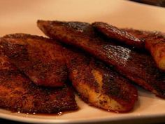 blackened tilapia. cut cayenne in half(ish) and bake in oven instead on a lightly oiled foil-lined baking sheet. serve with tartar sauce.