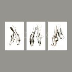 Ballet Art  set of 3  11x17   Pointe Shoes   Ballet by BalletArt, $78.00