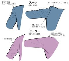Fabric and folds can take all sorts of forms depending on the softness of the material and the shape of the body. This illustrated tutorial by comic artist miyuli covers basic concepts and approaches for drawing fabrics of all kinds. Body Reference Drawing, Drawing Reference Poses, Drawing Poses, Design Reference, Drawing Lessons, Drawing Techniques, Drawing Tips, Suit Drawing, Jacket Drawing