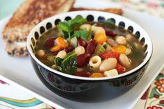 Healthy Minestrone Soup from Our Best Bites ***made a deliciously large batch, very filling...I ommitted the pasta to keep it low carb***