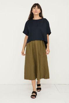 Bel Skirt in Midweight Linen