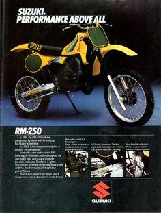 1983- Suzuki RM250 ad