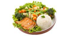 Executivo de Salmão - LANÇAMENTO  Salmão servido à moda executiva. Muito bem acompanhado pela nossa deliciosa seleta de legumes e arroz branco.  Individual.