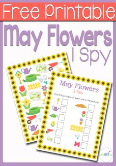 This May Flowers I Spy is the perfect introduction to spring for your preschoolers!Practice counting, matching, and visual discrimination while building language skills to familiarize them with words that they will be hearing during the spring season.The May Flowers I Spy is perfect for using at home or school for some fun themed counting practice. …