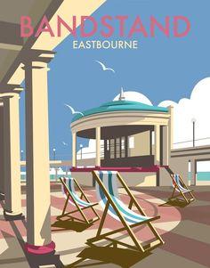 Eastbourne Bandstand Art Print