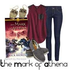 Outfit inspired by The Mark of Athena by Rick Riordan (The Heroes of Olympus series)
