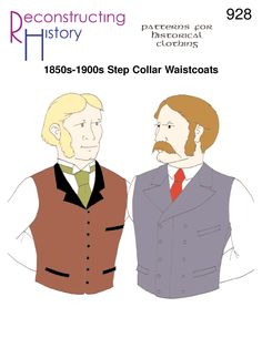 A great waistcoat makes the suit.  Make one with RH928:  http://reconstructinghistory.com/product/rh928-1850s-1900s-step-collar-waistcoats/