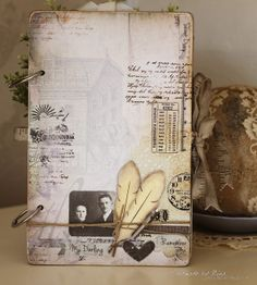 Vintage Memoir album. Handmade by Nina Macaulay.