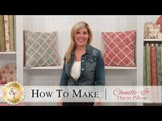How to Make a Chenille-It Throw Pillow | with Jennifer Bosworth of Shabby Fabrics - YouTube