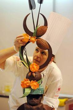 World Chocolate Masters UK Selection Chocolate Work, Easter Chocolate, How To Make Chocolate, Chocolate Quotes, Chocolate Lovers, Kai Arts, Chocolate Showpiece, Food Sculpture, Creative Food Art