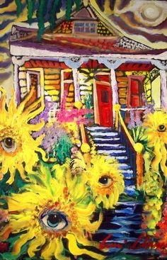 Dancing Sunflowers in New Orleans by Amzie Adams