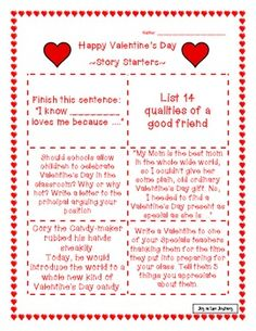 Free! Valentine's Day printables...6 pages