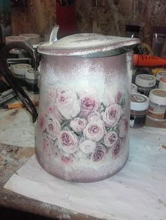 can decoupage Decoupage, Canning, Photo And Video, Home Canning, Conservation