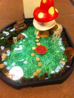 Fairy tuff spot small world early years Tuff Spot, Small World, Fairy, Cake, Ideas, Food, Food Cakes, Eten, Cakes