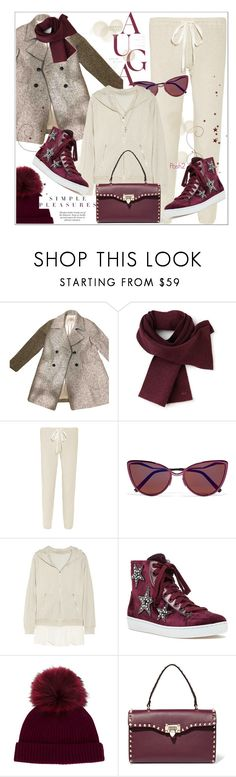 """""""Comfy Cozy"""" by prettynposh2 ❤ liked on Polyvore featuring Zara, Lacoste, Clu, Cutler and Gross, Lola Cruz, N.Peal, Valentino and LOFT"""