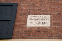 Birthplace of Johannes Vermeer (note: the plaque is located at the incorrect location).  Follow the link to Find out more about Delft.  http://mikestravelguide.com/find-things-to-do-in-delft-visit-the-tip/