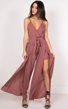The never love me jumpsuit is your new must have! Featuring spaghetti straps and a waist tie this is easily dressed up for a formal occasion with some heels and bling! Formal Romper, Formal Jumpsuit, Maxi Romper, Jumpsuit Dress, Year 10 Formal Dresses, Semi Formal Outfits For Women Wedding, Maid Dress, Rompers Women, The Dress