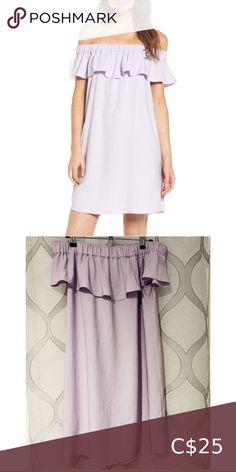 Nordstrom Lilac Off the Shoulder Dress Lilac crepe off the shoulder dress. size small. worn once Nordstrom Dresses Mini