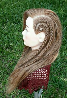 Peinados All Hairstyles, Little Girl Hairstyles, Braided Hairstyles, Hair Upstyles, Viking Hair, Afro Wigs, Beautiful Hair Color, Fantasy Hair, Dream Hair