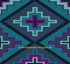 Discover thousands of images about Heikeshäkellust: Wayuu mochila IV (Muster) - Crochet Table Runner Pattern, Tapestry Crochet Patterns, Loom Patterns, Stitch Patterns, Crochet Blocks, Crochet Chart, Knit Or Crochet, Boho Tapestry, Tapestry Bag