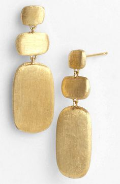 Marco Bicego 'Murano' Triple Drop Earrings available at #Nordstrom