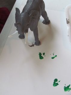 Great Activity!  Tried it in my class!  Make extra tracks (laminate them) have children figure out what animal made those tracks.  Its interesting to see who is able to match the track to the animal.