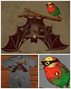 Batman and Robin graphic tee