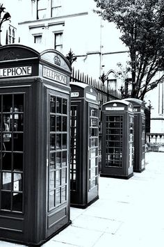 'Black and White Phone boxes' by alexia miles on artflakes.com as poster or art print $16.63