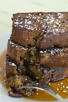 Chocolate Chip Banana Bread French Toast