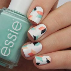 23 Best Of toe Nails Cracked - Essie Geometric Nail Art Nagellack Farben Nagellack Kunst Nageldesign Diy Essie Nagellack Diy Nails, Cute Nails, Pretty Nails, Manicure Ideas, Nail Polish Designs, Nail Art Designs, Pedicure Designs, Nails Design, Gel Polish