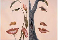 Octavio Ocampo; Mouth of the Flower & Family of Birds