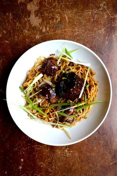 these Braised Oxtail Noodles are so good--the oxtails are super tender and have that wonderfully chewy collagen texture...and the sauce coats the noodles amazingly well.