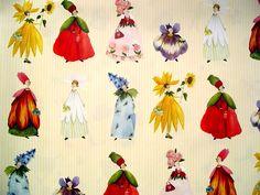 """Designer Paper - Silke Leffler Design GP12067 """"BLÜTENFRAUEN"""". €2.00, via Etsy."""