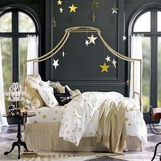 Maison Canopy Bed #pbteen. I have a mattress but not a very pretty bedframe right now this works so well in my room