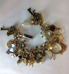 Repurposed Charm Bracelet. Vintage charms by BeadazzledBySharon, $40.00