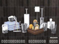 Sims 4 CC's - The Best: Decor Bathroom Pottery Barn by ShinoKCR