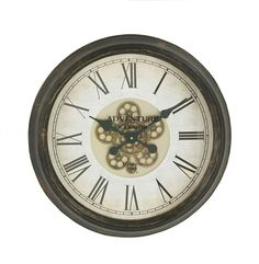 Magnificently Styled Metal Wall Clock